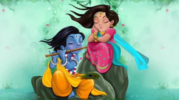 Wedding Invitation/Save The Date   e-Card & WhatsApp Invitation   Radha Krishna Style Hindu e-Card